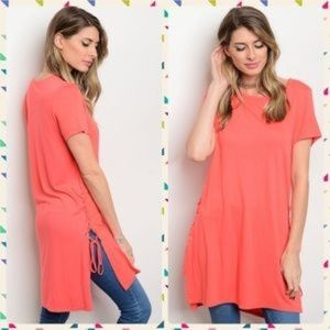 i ma belle Tunic Coral Tops S, L (Boutique)